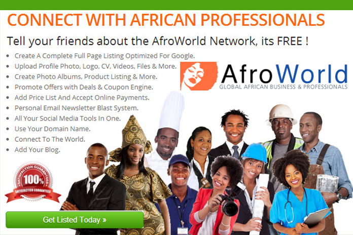 AfroWorld.org allows you to connect with African professionals from around the globe.