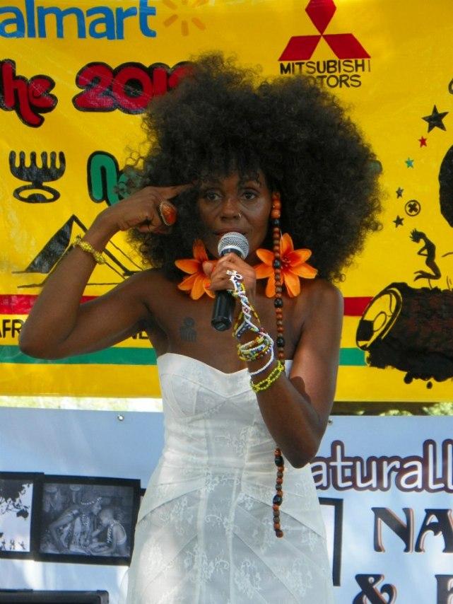 Naturally Isis speaks at Natural Hair Parade & Festival in Dallas, TX